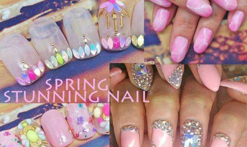 大人の春ネイルデザイン,spring,short,nail
