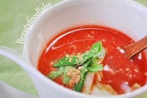 トマトの冷製味噌汁のレシピ