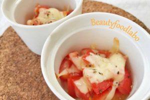 簡単!夏旬で美白に♪焼きチーズトマトのレシピ