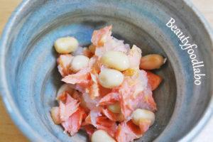 鮭と大豆のおろし和えレシピ