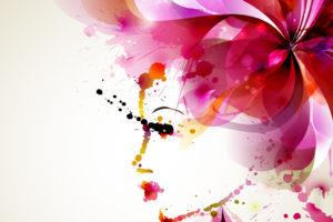 目の紫外線対策の女性イラスト