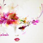 アイシャンプーできれいな目元の女性のイラスト