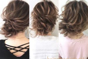 左寄せヘアアレンジ3パターン