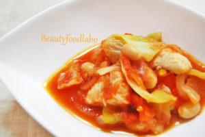 大豆とキャベツのトマト煮TOP