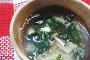 春旬わかめのスープ