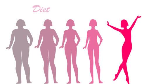 簡単ダイエットテク‗ダイエット女性のイラスト