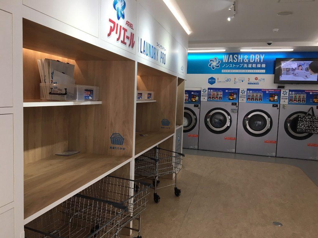 乾燥機8台 洗濯乾燥機4台 スニーカー用2台 ariel-laundry-pro