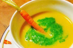 旬野菜のニンジンをスープに、丸ごと摂取でパワーアップ! mootto carrot soup